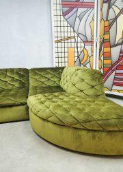 modulaire bank sofa velvet green