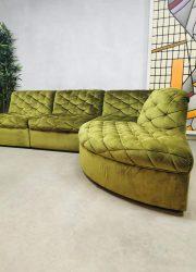vintage sofa modulaire bank velvet green