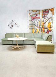 Vintage modular sofa modulaire lounge bank 'soft mint velvet'