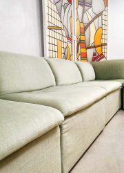 Vintage modular velvet sofa seating element bank mint green