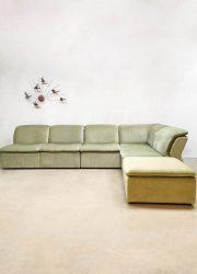 modulaire sofa bank seating group mint green velvet