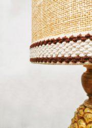 vintage pineapple table lamp ananas tafel lamp