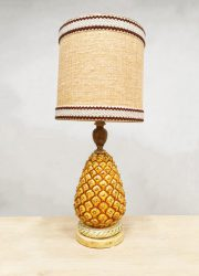 Vintage eclectic design table lamp tafellamp 'Pineapple'