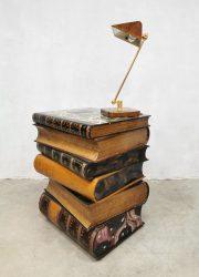 bijzettafel vintage art deco stacked books sidetable