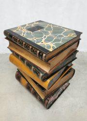 history of art stacked books bijzettafel