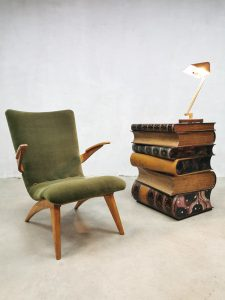 Vintage stacked book sidetable boekenstapel bijzettafel 'Art deco style'