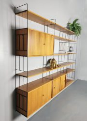 Vintage modular wall unit sixties design modulair wandmeubel