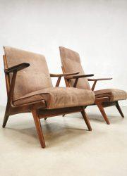 Lounge set Danish design vintage armchair fauteuil sofa bank stoel deens