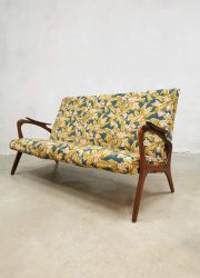 vintage Danish design sofa lounge bank botanical print
