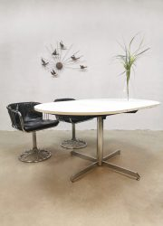 vintage design eames style dining table white chrome eetkamertafel