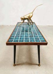 salontafel vintage design coffee table ceramic tiles