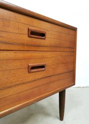 vintage teakhouten ladenkast ladekastje retro jaren 60 chest of drawers