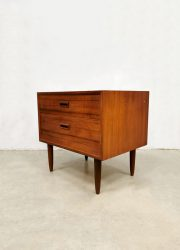 scandinavian chest of drawers teak wood sixties Dansih design