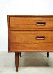 Deens vintage teakhouten ladenkast ladekastje retro jaren 60 chest of drawers