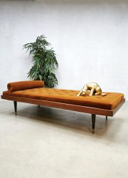 Midcentury Italian design daybed lounge sofa 'burnt orange'