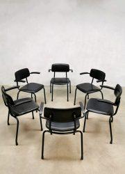 Vintage Dutch design chairs Friso Kramer stapelstoelen