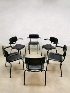 Vintage Dutch design chairs Friso Kramer stapelstoelen