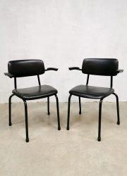 Dutch Design industrieel stapelstoelen Friso Kramer vintage