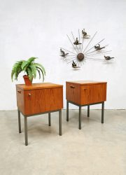 Vintage design night stands nachtkastjes 'Dutch minimalism'