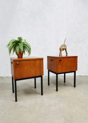 vintage teak nachtkastje nightstand jaren 60 sixties design