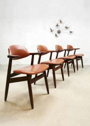 vintage dutch design eetkamerstoelen cowhorn chairs dinner chairs