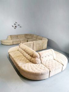 Vintage modular sofa elementen bank modulaire bank Lausser XXL