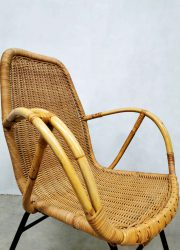 retro vintage rotan stoel rattan chair fifties sixties design Rohe