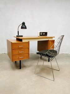 Vintage Dutch design writing desk bureau sixties 'minimalism'