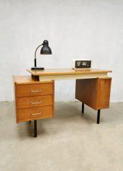 Dutch desk bureau sixties vintage jaren 60 midcentury modern