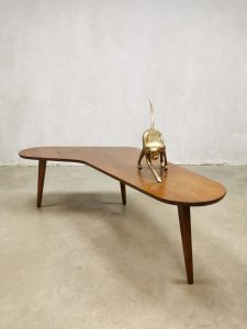 Vintage Dutch design coffee table Bovenkamp bijzettafel 'boomerang'