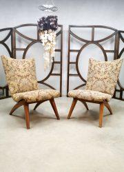 Vintage Dutch design easy chair lounge fauteuil G. Van Os