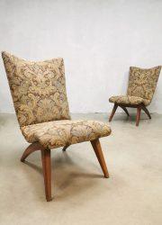Van Os Culemborg fauteuils arm chairs lounge vintage design jaren 50