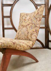 vintage z legs midcentury modern lounge chair fifties design