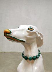 Vintage Italian design ceramic dog hond keramiek beeld