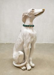 Italian ceramic keramiek beeld statue vintage hond dog design