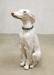 Vintage Italian design ceramic dog hond keramiek beeld sculpture