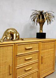 vintage design bamboe wandkast sideboard bamboo Ibiza style