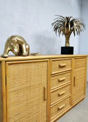 vintage design bamboe wandkast sideboard dressoir bamboo Ibiza style