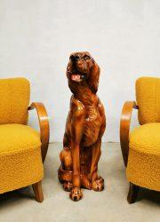 Vintage ceramic dog Irish setter statue keramiek hond Ierse setter