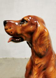 vintage ceramic dog keramieke hond retro design