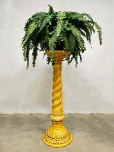 Vintage ceramic plant stand plantenstandaard zuil 'twirl'