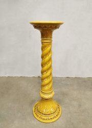 Plantenstandaard vintage porselein midcentury sixties ceramic plant stand pillar