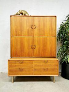 Midcentury vintage design cabinet wandkast 'Danish modern'