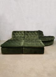 Sixties modular sofa seventies elementen bank velvet modulair modular vintage