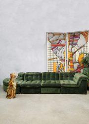 Vintage modular sofa elementen lounge bank 'green spirit'