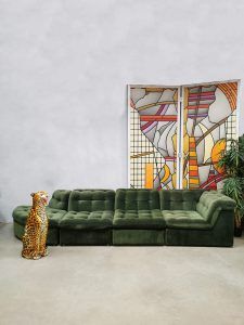 Vintage modular sofa elementen lounge bank 'green spirit'