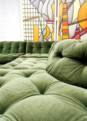Velvet modulaire elementen bank vintage modular sofa retro seventies design