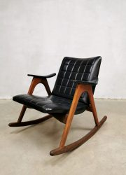 jaren 60 sixties vintage design schommelstoel rocking chair Danish style Deense stijl retrol