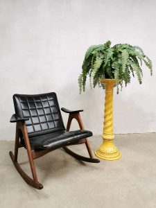 Vintage design rocking chair schommelstoel Webe Louis van Teeffelen