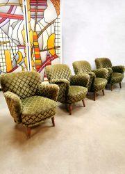 Vintage armchair cocktail chair lounge fauteuil print 'ton sur ton'